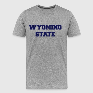 wyoming state - Men's Premium T-Shirt