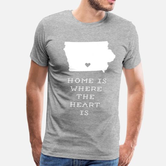 299967d5854 Iowa Home is Where the Heart is State T-shirt Men's Premium T-Shirt ...