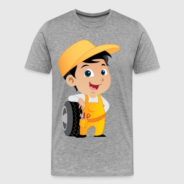 Maintenance man with wheel - Men's Premium T-Shirt