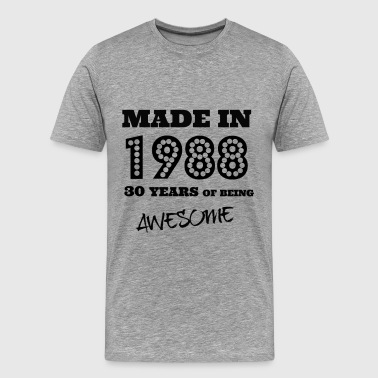 Made in 1988 - 30th bday - Men's Premium T-Shirt