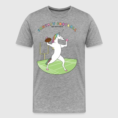 Fantasy Football Unicorn Outline - Men's Premium T-Shirt