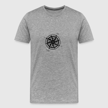 Ringworld Compass Rose | Robot Plunger - Men's Premium T-Shirt