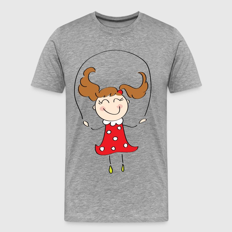 Cartoon child skipping - Men's Premium T-Shirt