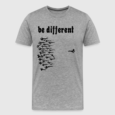 Be Different Sperm - Men's Premium T-Shirt
