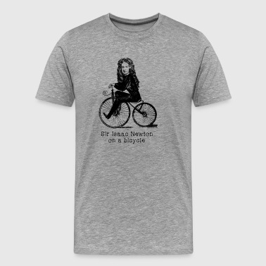 SIR ISAAC NEWTON ON A BICYCLE - Men's Premium T-Shirt