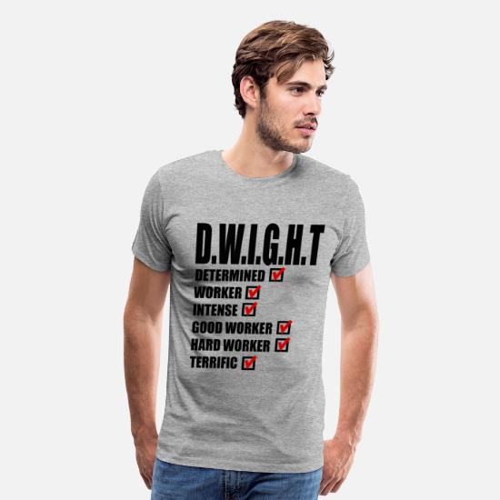 Office T-Shirts - Dwight Schrute - The Office - Men's Premium T-Shirt heather gray