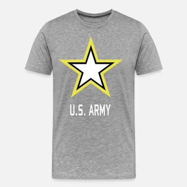 Army Star Military Army Star U.S. military Logo in 3 Colors - Men's Premium T-Shirt