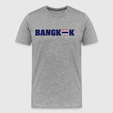 BANGKOK LOVE HEART THAI FLAG - Men's Premium T-Shirt