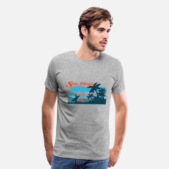 San T-Shirts - San Diego Beach - Men's Premium T-Shirt heather gray