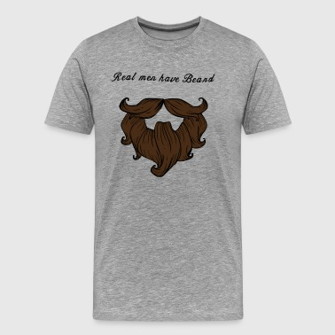 real men have beard - Men's Premium T-Shirt