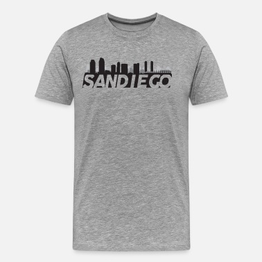 San Diego Skyline San Diego California Skyline - Men's Premium T-Shirt