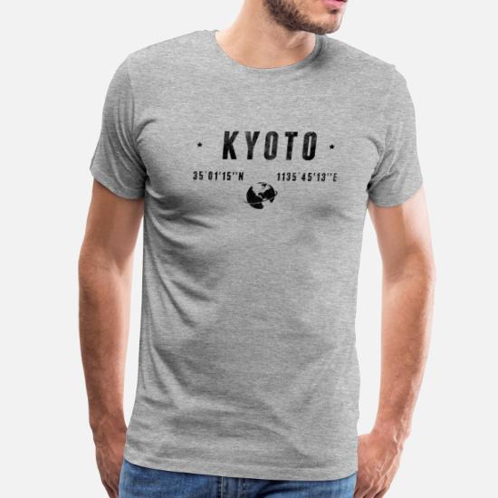 b0b40f1e7 Kyoto T-Shirts - Kyoto - Men's Premium T-Shirt heather gray