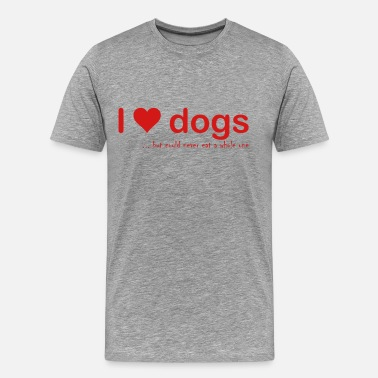 I Love Dogs I love dogs - Men's Premium T-Shirt