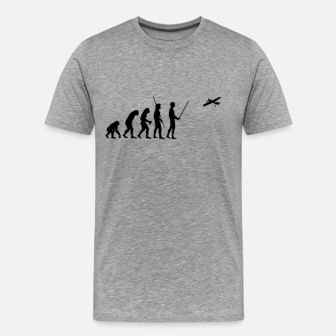 Model Airplane Evolution model airplane - Men's Premium T-Shirt