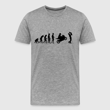 Evolution motorcycle with father and child - Men's Premium T-Shirt
