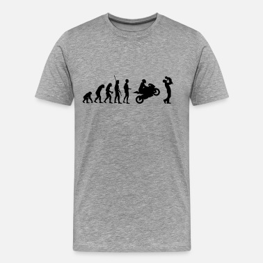 Evolution Child Evolution motorcycle with father and child - Men's Premium T-Shirt