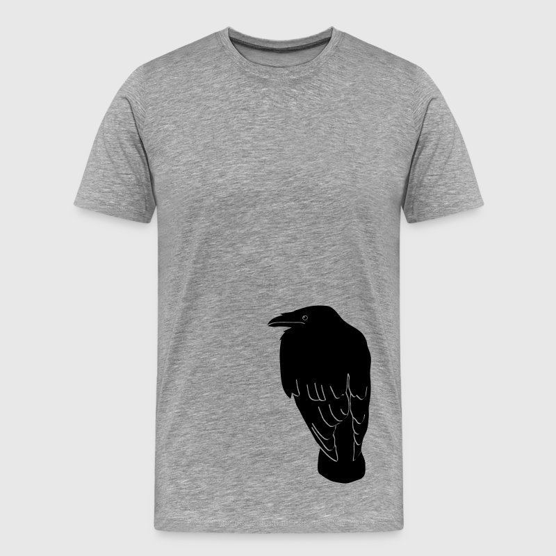 raven crow gothic bird wings dark fly - Men's Premium T-Shirt