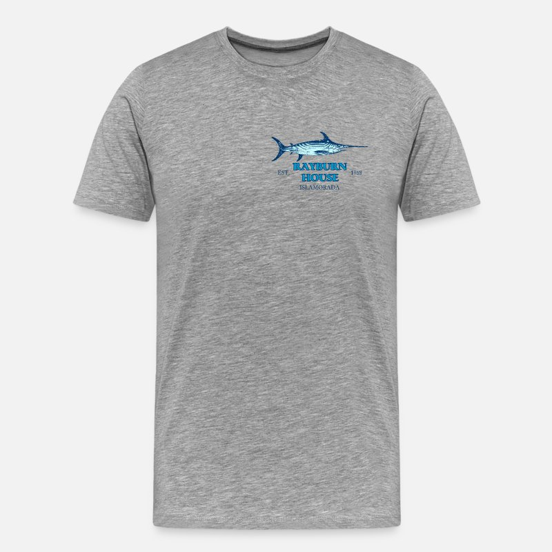 Beach T-Shirts - Rayburn House - Men's Premium T-Shirt heather gray