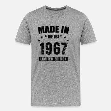 Bday Made in the USA born in 1967 50th birthday shirt - Men's Premium T-Shirt