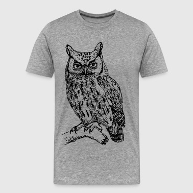 Owl art clip art - Men's Premium T-Shirt