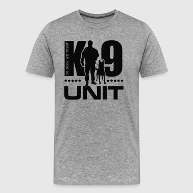 Police K9 K-9 Unit  -Police Dog Unit- Malinois - Men's Premium T-Shirt