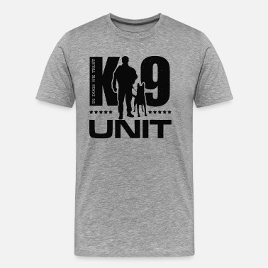 Police K-9 Unit  -Police Dog Unit- Malinois - Men's Premium T-Shirt