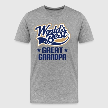 Worlds Best Great Grandpa - Men's Premium T-Shirt