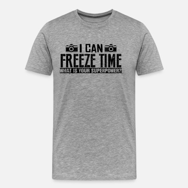 Time Photographer Can Freeze Time Shirt - Men's Premium T-Shirt