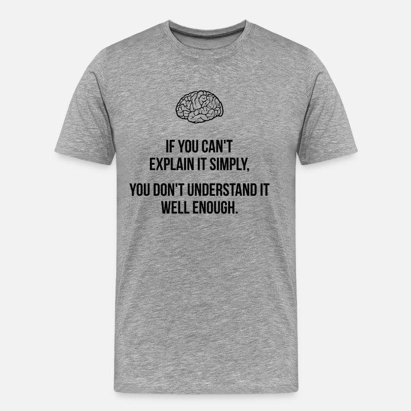 Understand T-Shirts - Explain it Simply - Men's Premium T-Shirt heather gray