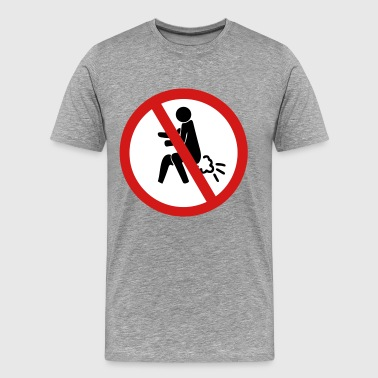 Toilet Humor Funny NO Farting Thai Sign - Men's Premium T-Shirt