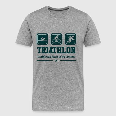 Gift Threesome Triathlon - Threesome - Men's Premium T-Shirt