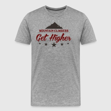 Mountain Climbers Get Higher - Men's Premium T-Shirt