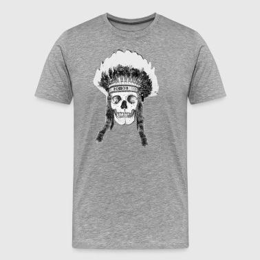 skull indian headdress - Men's Premium T-Shirt