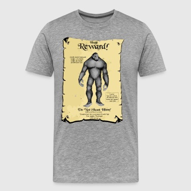 Poster:  SASQUATCH Wanted! - Men's Premium T-Shirt