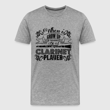 Clarinet Player Shirt - Men's Premium T-Shirt