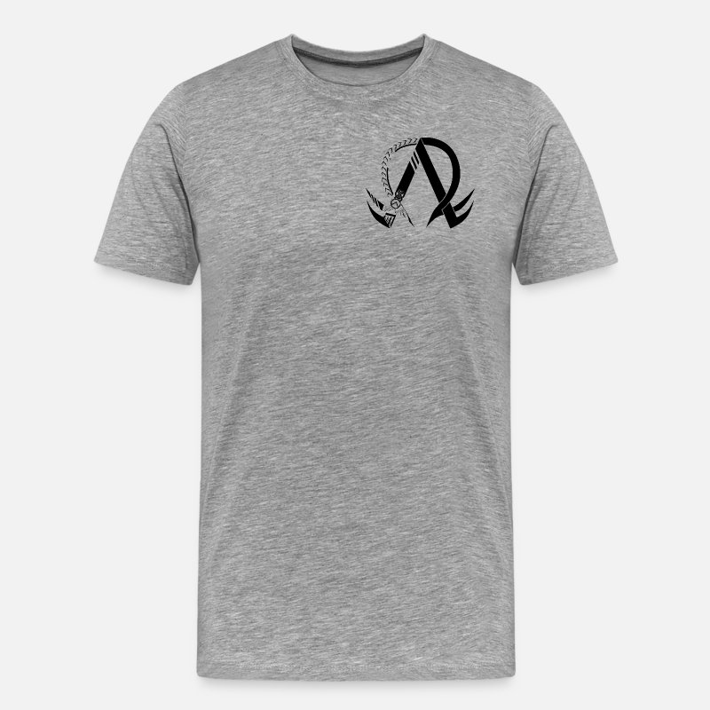 Omega T-Shirts - Alpha & Omega Symbol T-Shirts - Men's Premium T-Shirt heather gray