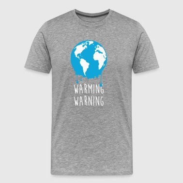 Warming Warning Ecology T-shirt - Men's Premium T-Shirt