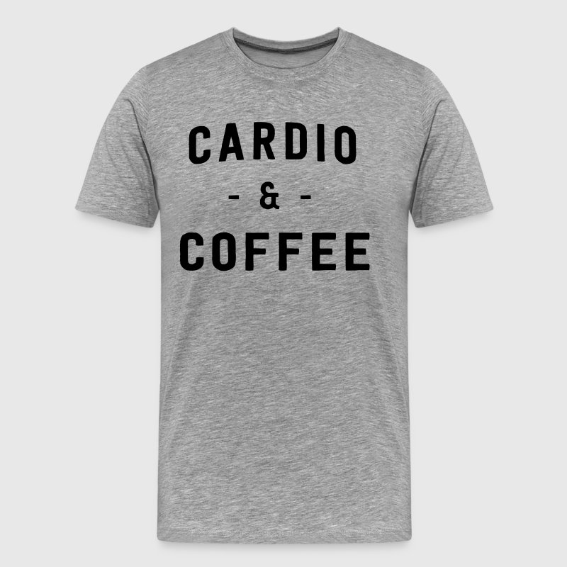 Cardio and Coffee - Men's Premium T-Shirt