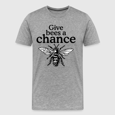 Honey Bee Give Bees A Chance Beekeeper Quote Design - Men's Premium T-Shirt