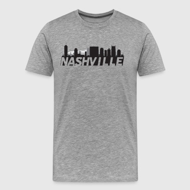 Nashville Tennessee Skyline - Men's Premium T-Shirt