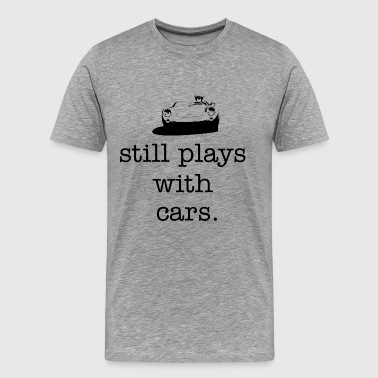spyder plays w/cars stack - Men's Premium T-Shirt