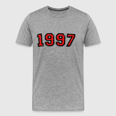 Vintage 1997 Birthday Distressed Red - Men's Premium T-Shirt