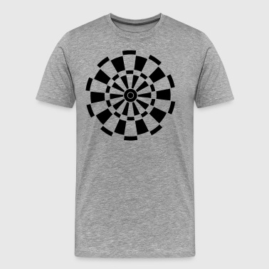 Arrow Dartboard Dartboard - Men's Premium T-Shirt