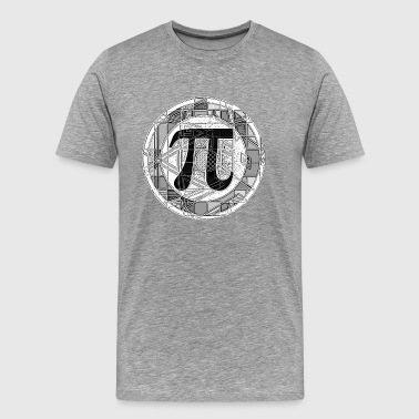 Pi Day Symbol Round - Men's Premium T-Shirt