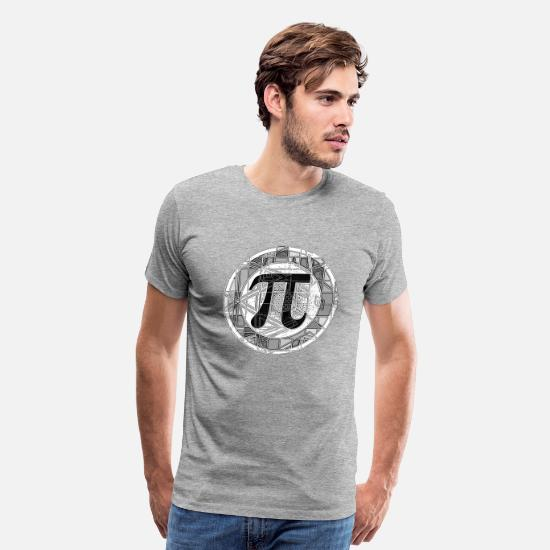 Geek T-Shirts - Pi Day Symbol Round - Men's Premium T-Shirt heather gray
