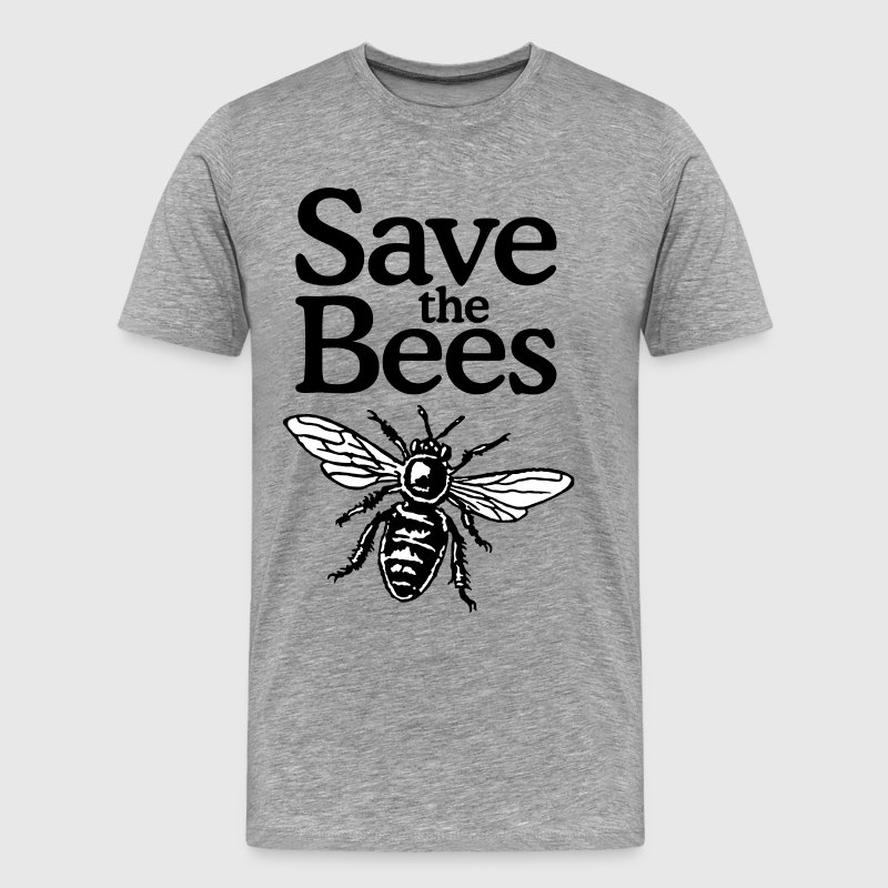 Save The Bees Beekeeper Quote Design (two-color) - Men's Premium T-Shirt