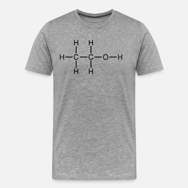 Researcher Ethanol alcohol formula chemistry - Men's Premium T-Shirt