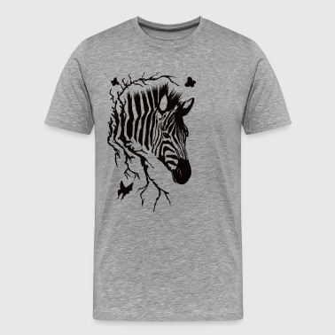 Zebra Head Design - Men's Premium T-Shirt