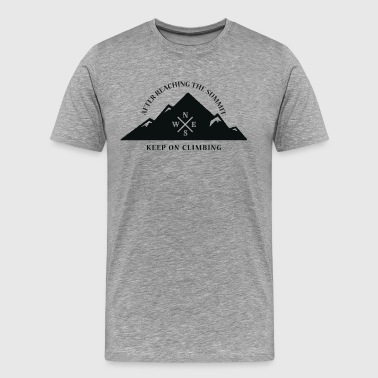Rock Climbing Keep On Climbing - Men's Premium T-Shirt