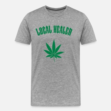 Healer Local Healer - Marijuana Leaf (1-color custom) - Men's Premium T-Shirt